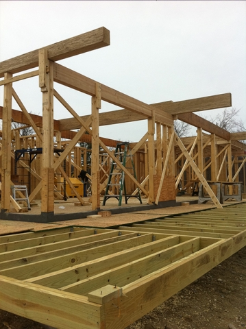 new modern house framing