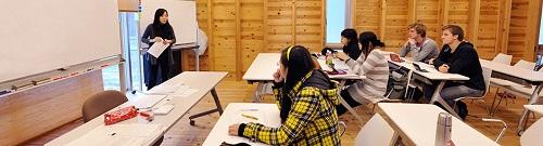 Học sinh Quốc tế trong lớp học tiếng Nhật - Ảnh:opir.kyoto-u.ac.jp
