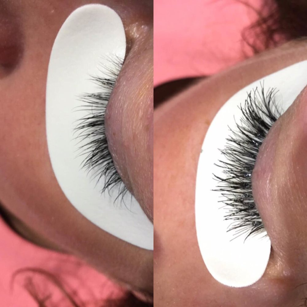 LASH EXTENSIONS - BEFORE & AFTER