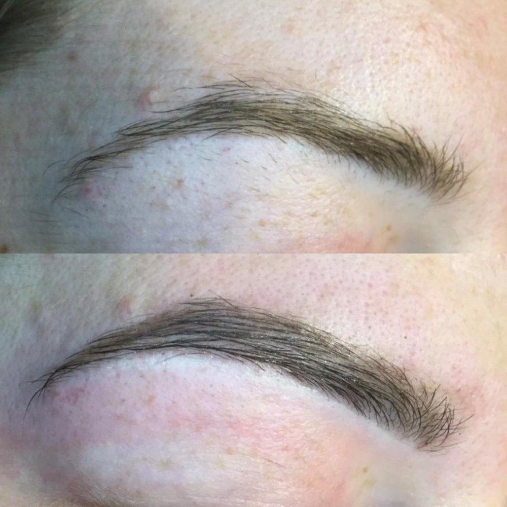 eyebrow wax & tint - BEFORE & AFTER