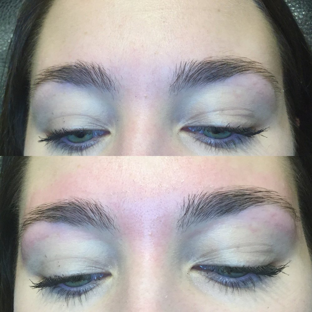 eyebrow wax - BEFORE & AFTER