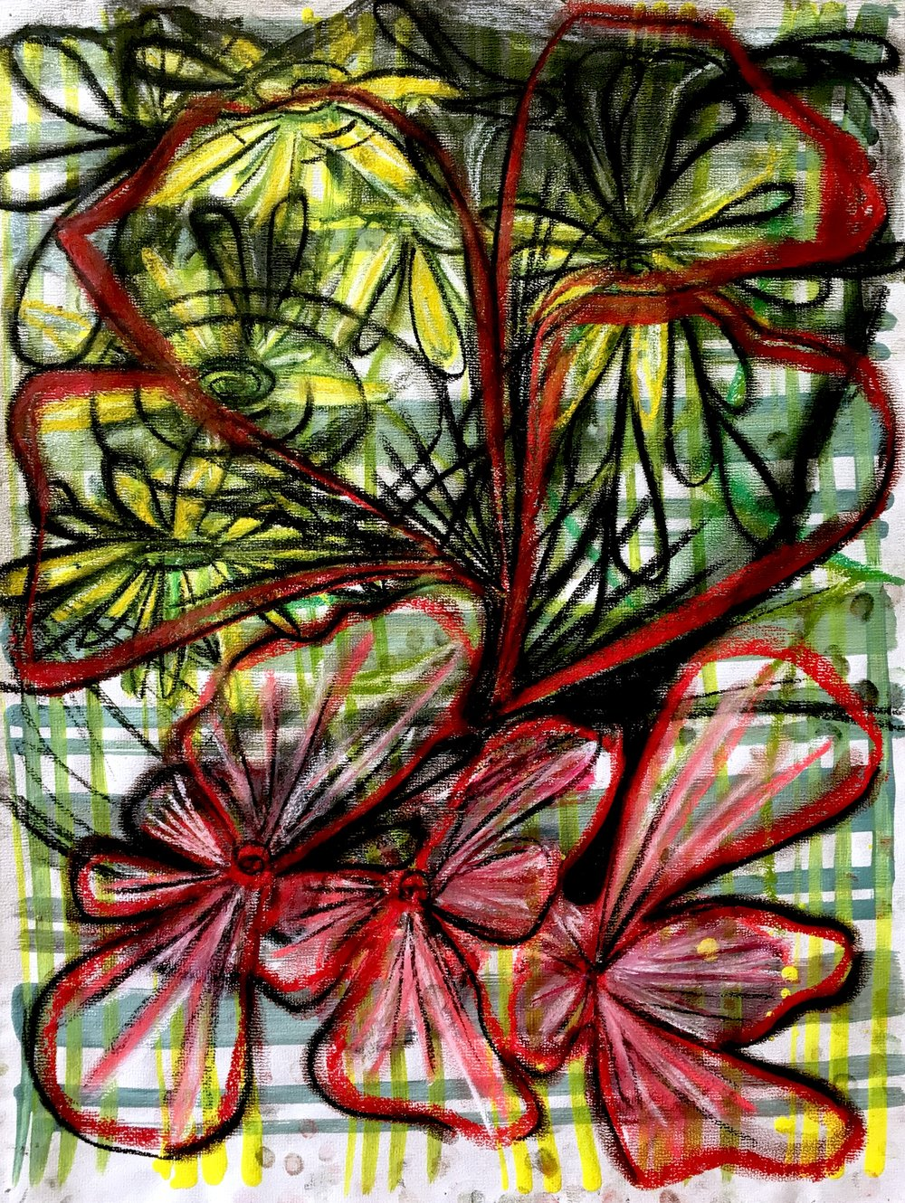 "Ink, gouache and pastel  23"" x 17 ½""  2011"