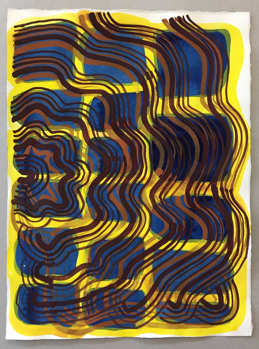 "Gouache on paper  11""x15"" 2017"