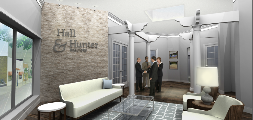 Hall and Hunter Realty - Complete Interior expansion and renovation including design and furnishings.