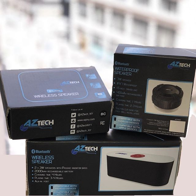Never miss a beat! Rain or shine our AZtech speakers are there for you. Find them in many national retailers very soon! 🔊 🎶 #giveaway #comingsoon