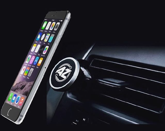 Drive hands-free in #style with our AZtech Universal Magnetic Car Phone Mount! 🚗