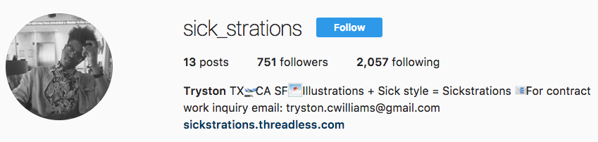 Looking for a graphic designers. Check out Tryston Williams @Sick_strations. Based out of Oakland, repping Austin Texas  -