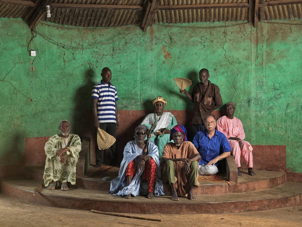 Jan Banning, Dagomba-divisiehoofd Gushiegu Naa (eigen naam Abubakari Yakubu), Noord-Ghana, 2016 (uit de serie 'The Sweating Subject') © Jan Banning / Fotomuseum Den Haag