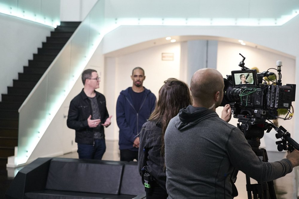 Kris Jones Damon Wayans Filming Special Guest App on Planet of the Apps.jpg