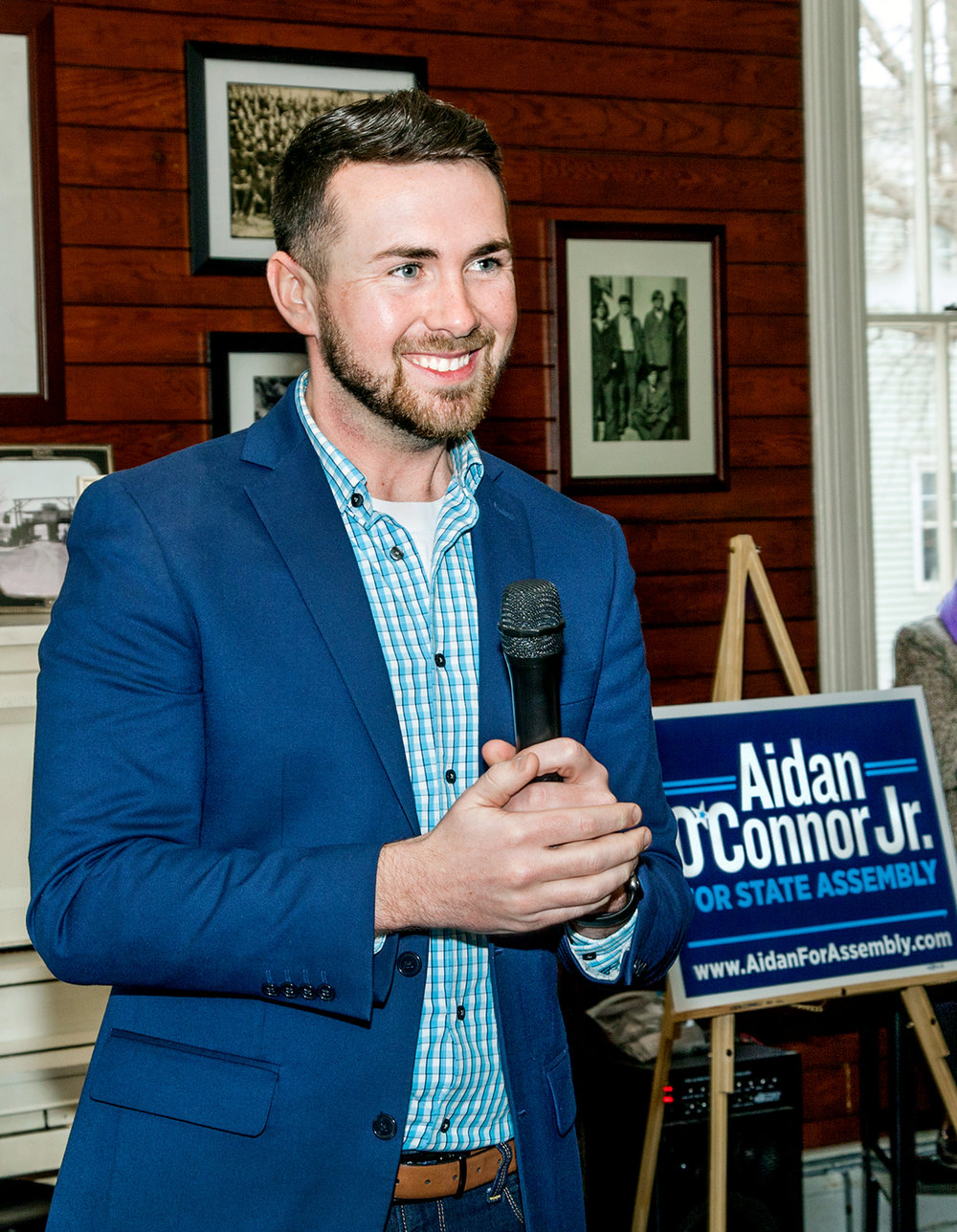 GOTV for Aidan O'Connor Jr. for Assembly - Phone Bank  - Make phone calls at the Catskill HQ  April 21, 22, 23 from 11-8:30pm and  April 24th ~ Election Day ~ from  10am-9pm  at  404 Main Street in Catskill   Click on Photo for Facebook Event.