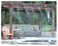 Backyard Pergola and Patio Misting