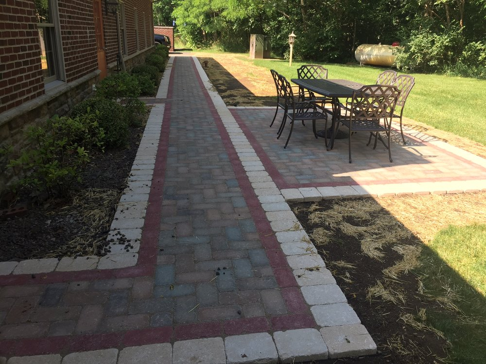 Brick paver walkway design in Livingston County, MI
