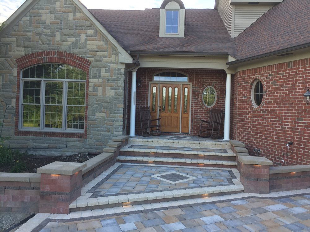 Brick paver and concrete driveway work in Livingston County, MI