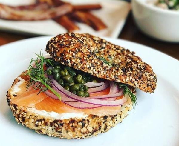 Lox filet sandwich from Lox Louisville -