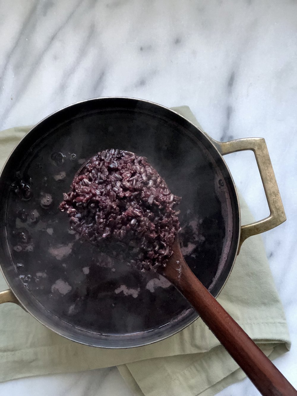 Cooked Black Rice -