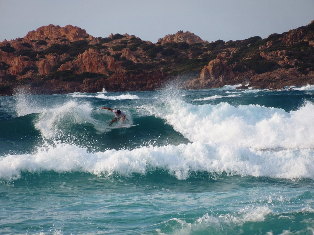 Catch a wave in sardinia