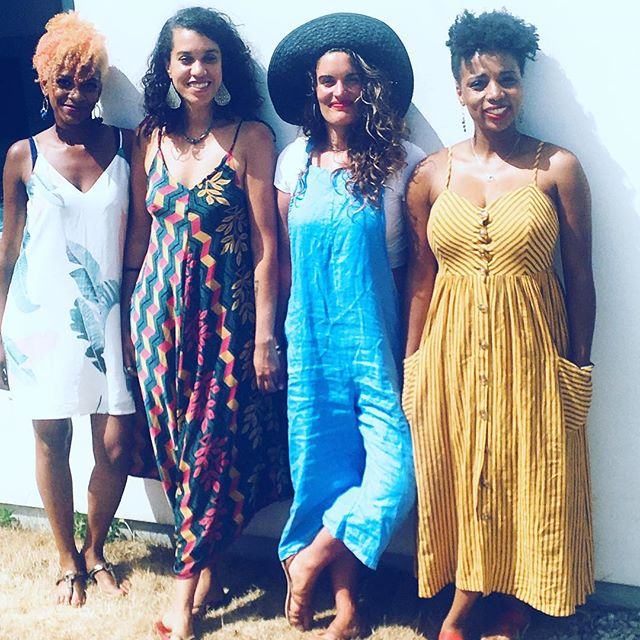 Girls holiday down to Cornwall. Sea swimming, whiskey drinking, magic making women these are #sisters #girlsontour ##holiday #cornwall #beachdays #thesewomen @thandolove1512 @cyndelafambi @michelle_denny_