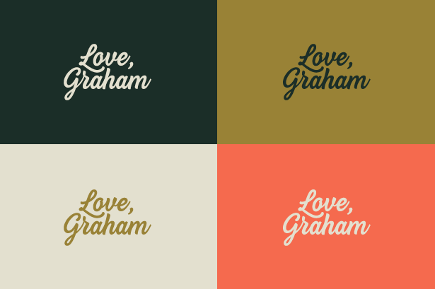 Love, Graham  - A sign off.A message.A feeling.Use this logo to show people how much Graham means to you.