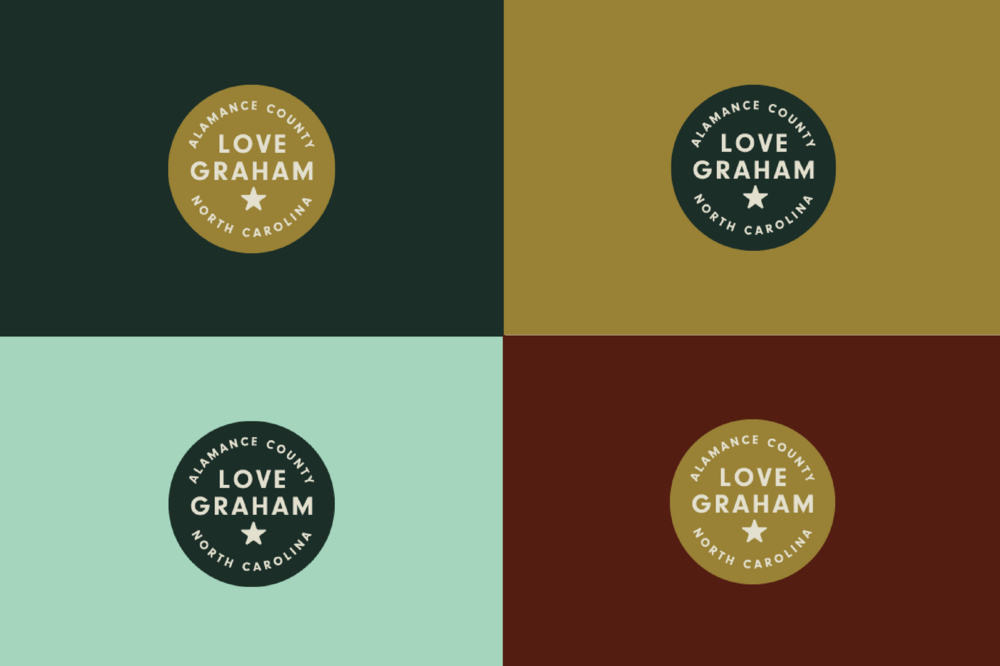 Love Graham. - A command.An instruction.A claim. Use this logo to show people how much you love Graham.