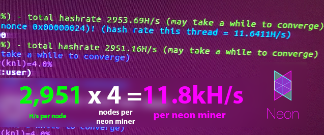 Neon Miner 11.5kH/s+ - Mining Speed Proof (on v7). New v8 algorithm is more intense (lower hash).