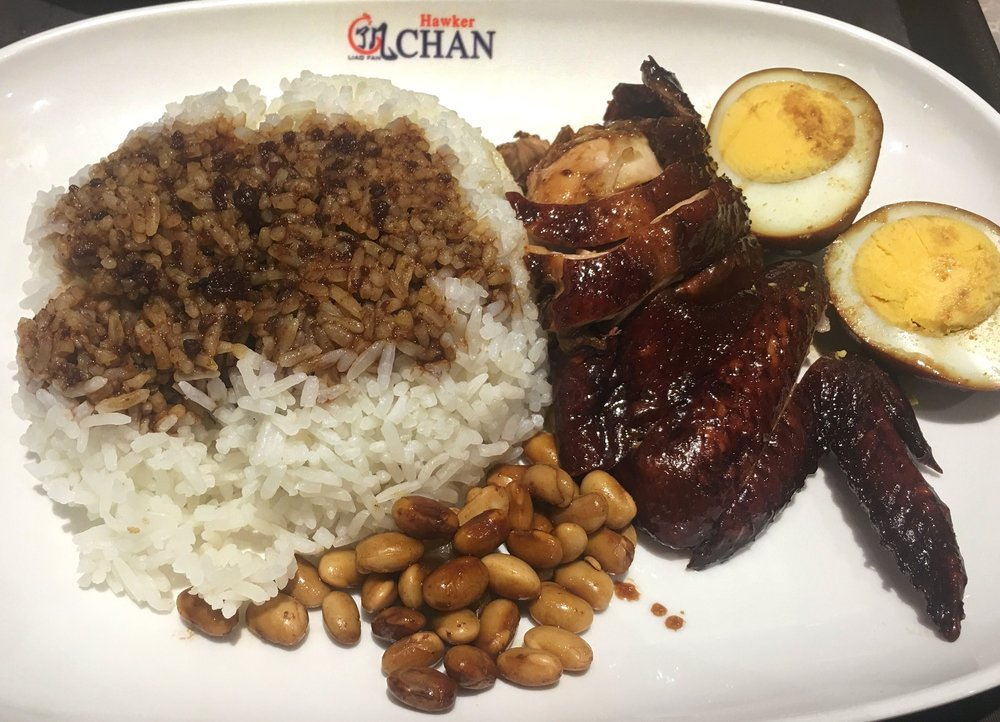 His famous Soya Sauce Chicken & Rice.