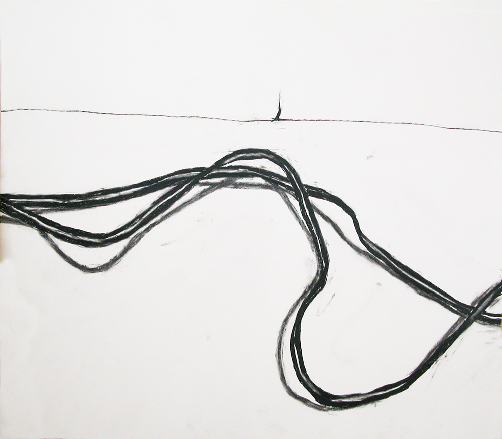 no. 28, 2002  charcoal on paper
