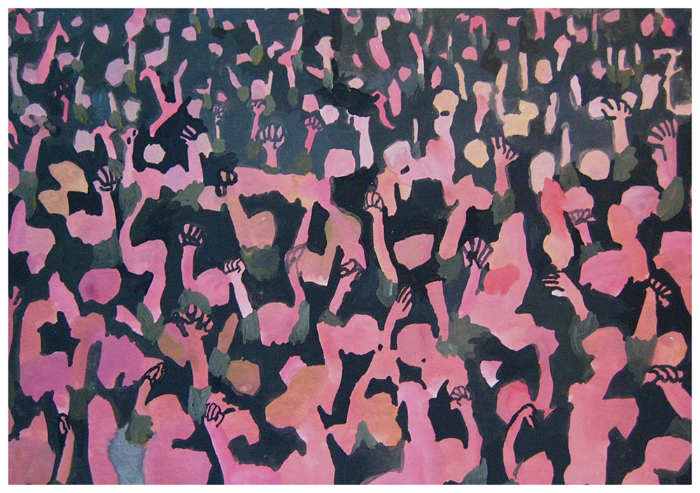 Pink, 2008  gouache on paper  7 x 10 in.