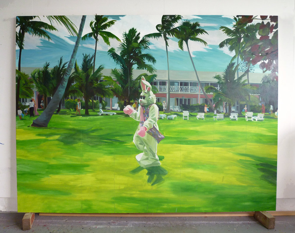 Bunny, 2010  oil on canvas  180 x 240 cm