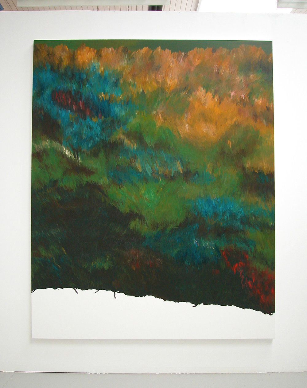 Roley-poley, 2007  oil on canvas  248 x 200 cm