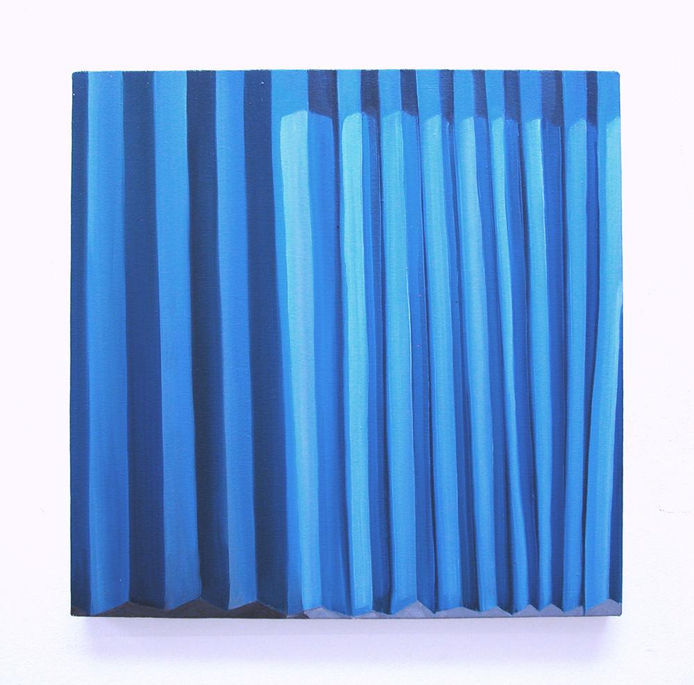 Train ride, 2007  oil on canvas  49 x 49 cm