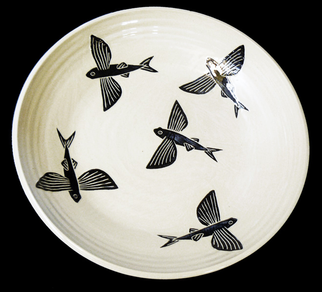 Flying Fish Large Bowl