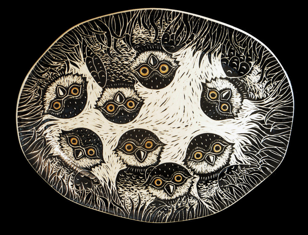 Burrowing Owl Platter