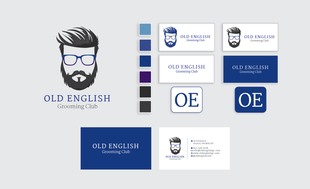 Old English Grooming Club Branding