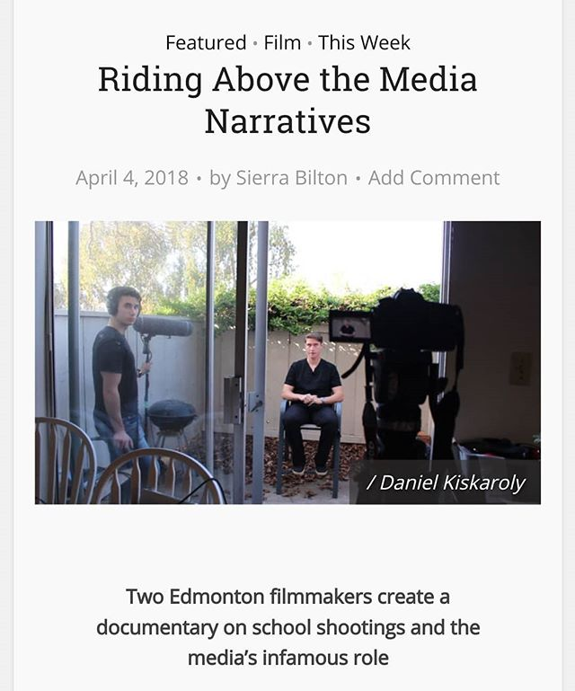Big thanks to @vueweekly for the write up on the crew behind the film and the film itself. The full article is up on vue weekly's site. Vista is gaining traction in the media, do you have your ticket for our screening yet on April 8th?