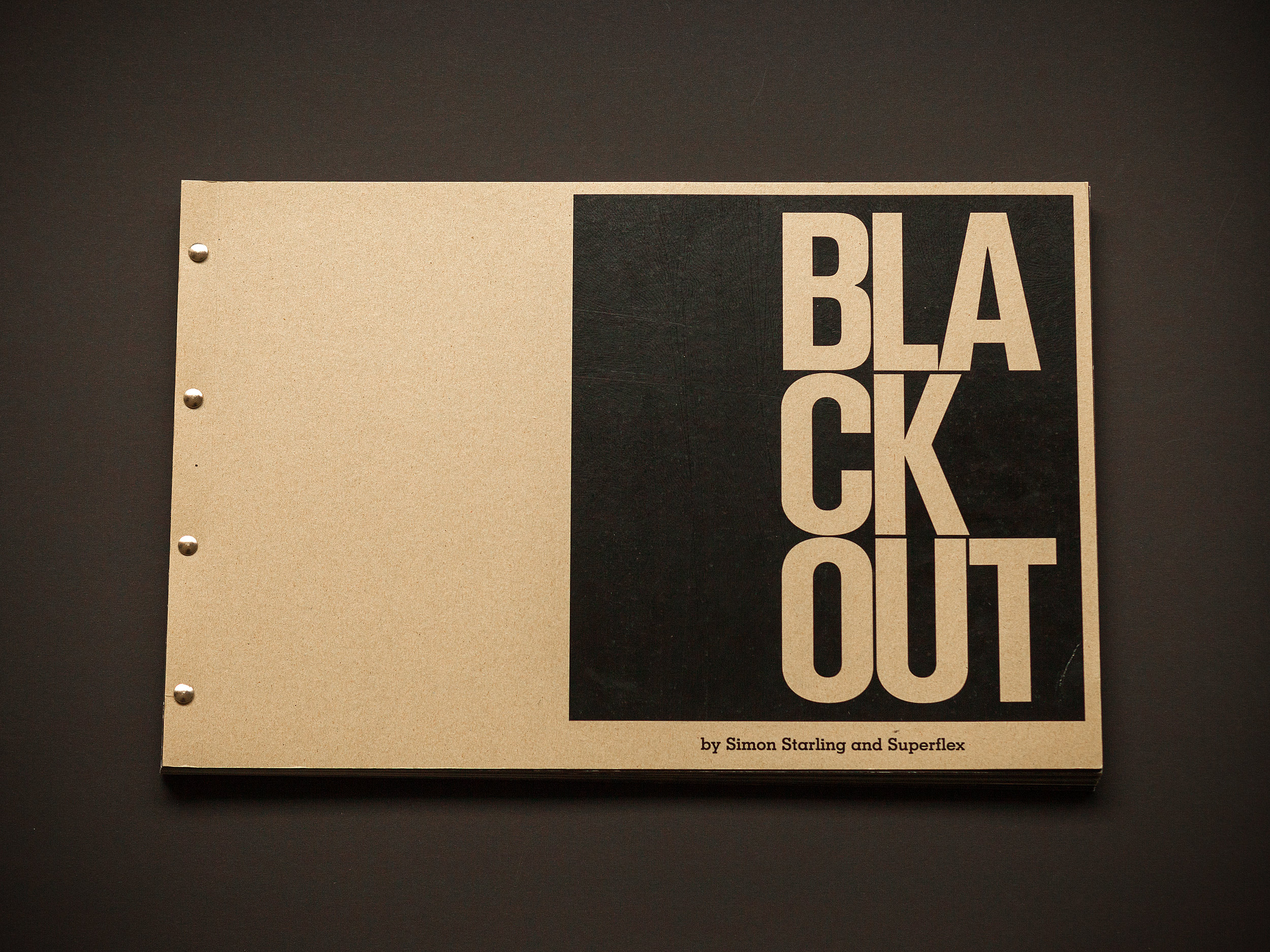 Blackout by Simon Starling and Superflex — Bladr