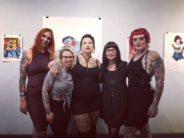 Ladies of 8 of Swords and Jackie Dunn Smith