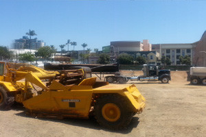 DZI Construction, Inc. downtown San Diego parking lot construction.