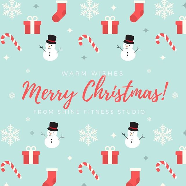 Merry Christmas from the Shine Fitness Studio family 🎄