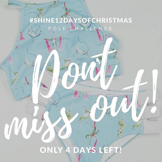 Just a quick reminder that the #shine12daysofchristmas pole challenge ends soon ‼️ // be sure to get your submissions in by the 31st of December for your chance to be one of two winners to receive a @pushandpole set ‼️ . We will be announcing the winners at the new year! Happy holidays 🎄🎁🍾🥂🎉 .