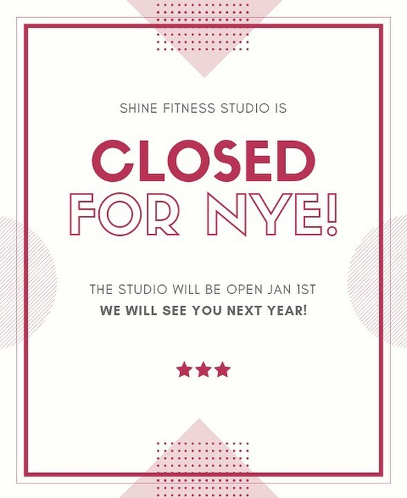 The studio will be closed tonight for New Year's Eve! 🎉 . Join @kristenrod tomorrow night for beginner pole @ 7:15pm and intermediate pole @ 8:15pm // see you all next year! .