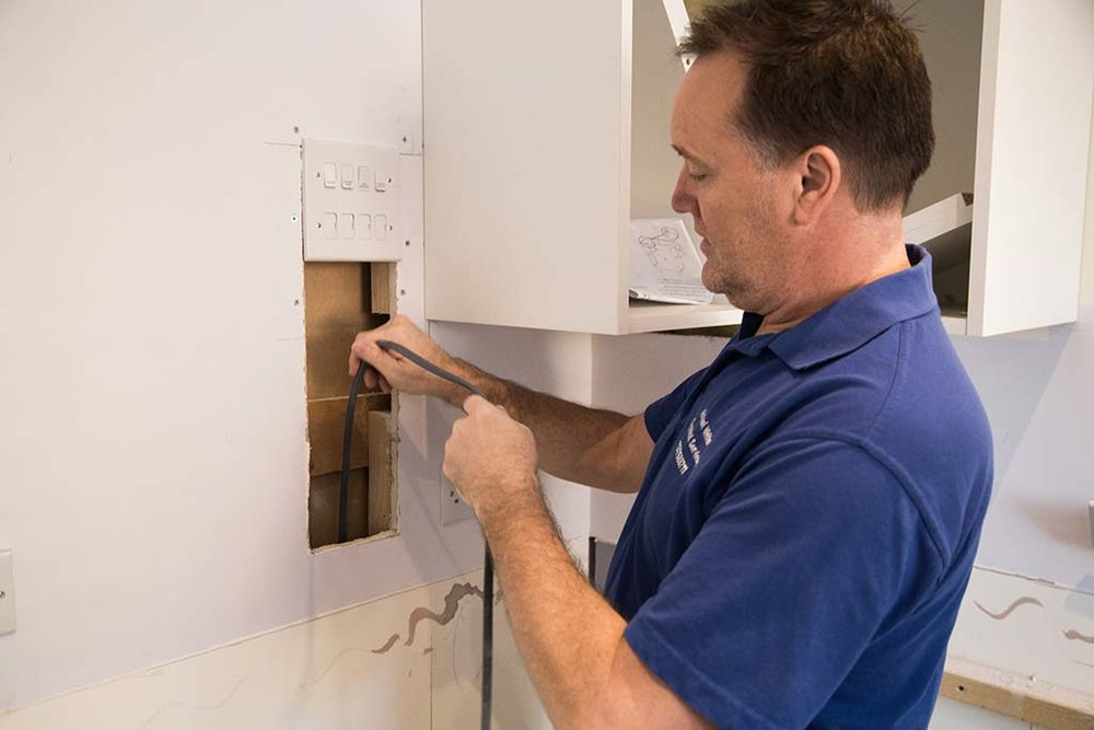 Electrician Kitchen re-wire service East Sussex
