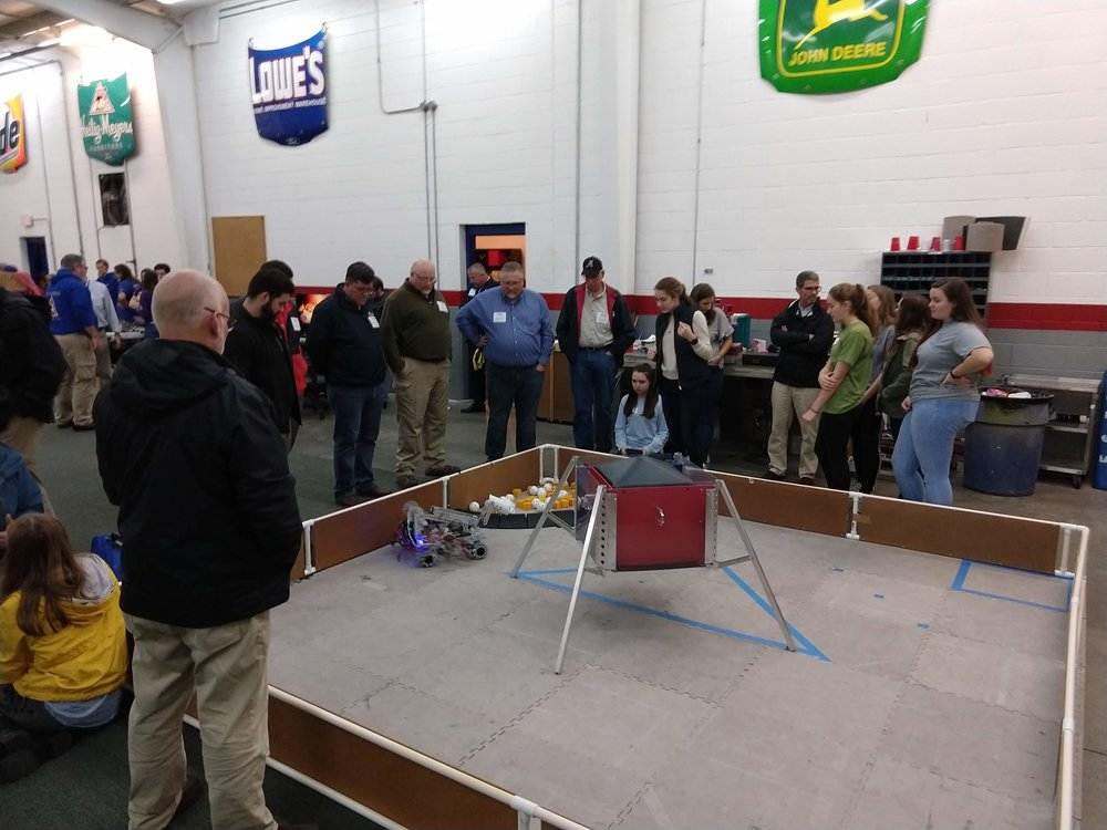 We recently hosted 3 FRC teams and one FTC team, as well as HPMA, for an information / demo session. Everyone had a great time.