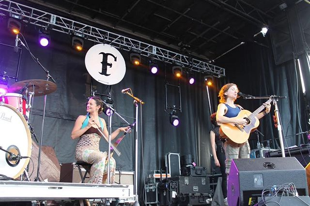 Always an honor to play with the amazing @anidifranco. Another great #festyexperience (: photo by @darrenmusic