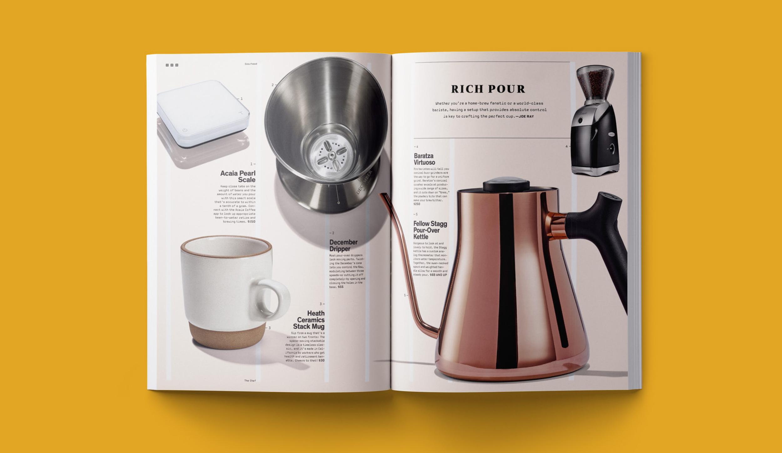 Corgan Design — Wired Magazine print layout