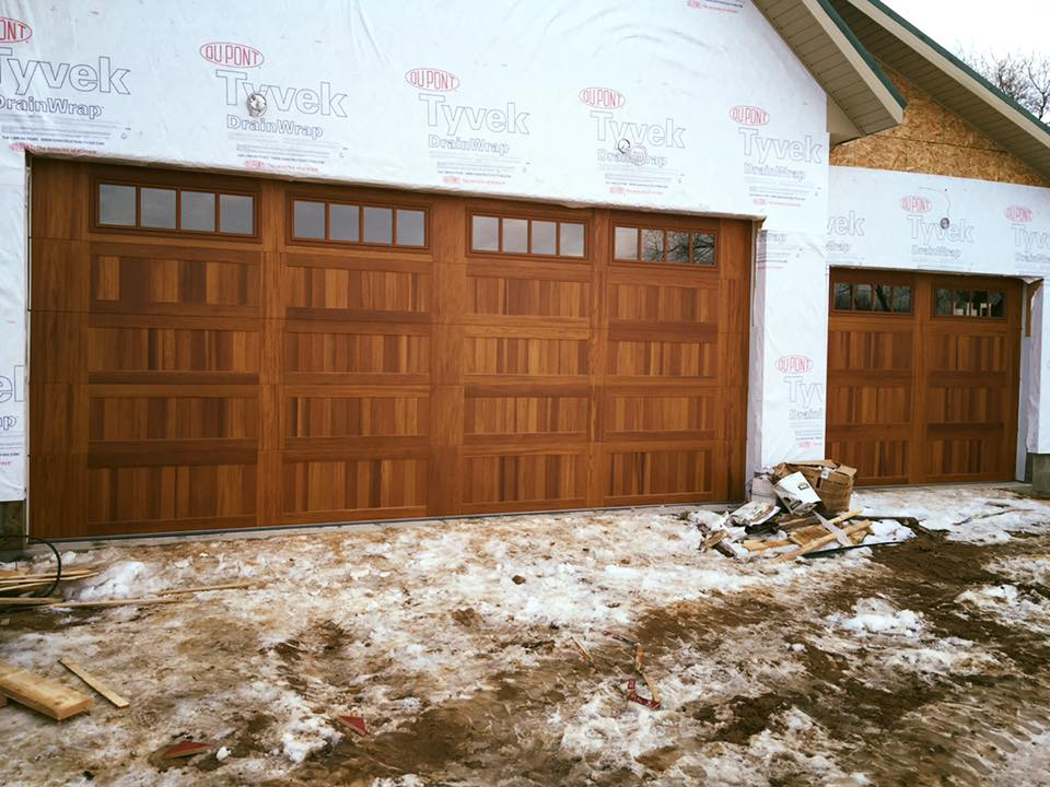 Cedar Accent CHI Garage Door 18 x 7