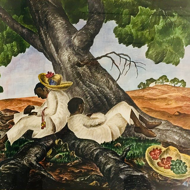 Willian J B Newcombe (1907-1969) The Sleepers, 1946 Watercolour on paper Collection of the Nelson-Atkins Museum Kansas City  #williamjbnewcombe #williamnewcombe #wjbnewcombe #nelsonatkinsmuseum #sanmigueldeallende #canadianart #britishcolumbia #bcartist