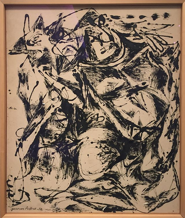JacksonPollock (1912-1956) Number 6, 1952 Oil and enamel on canvas Collection Nelson-Atkins Museum Kansas City  #nelsonatkinsartmuseum #nelsonatkinsmuseum #jacksonpollock #abstractart #abstractexpressionism #arttourism