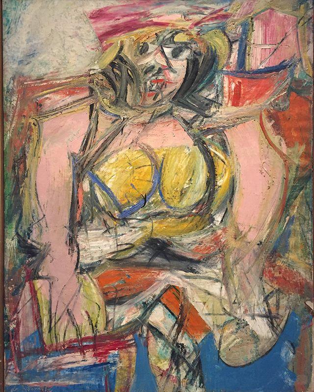 Willem de Kooning (1904-1997) Woman IV, 1952/3 Mixed media on canvas  Collection Nelson-Atkins Museum, Kansas City  #willemdekooning #nelsonatkinsmuseum #abstractart #abstractexpressionism #arttour #grandtour