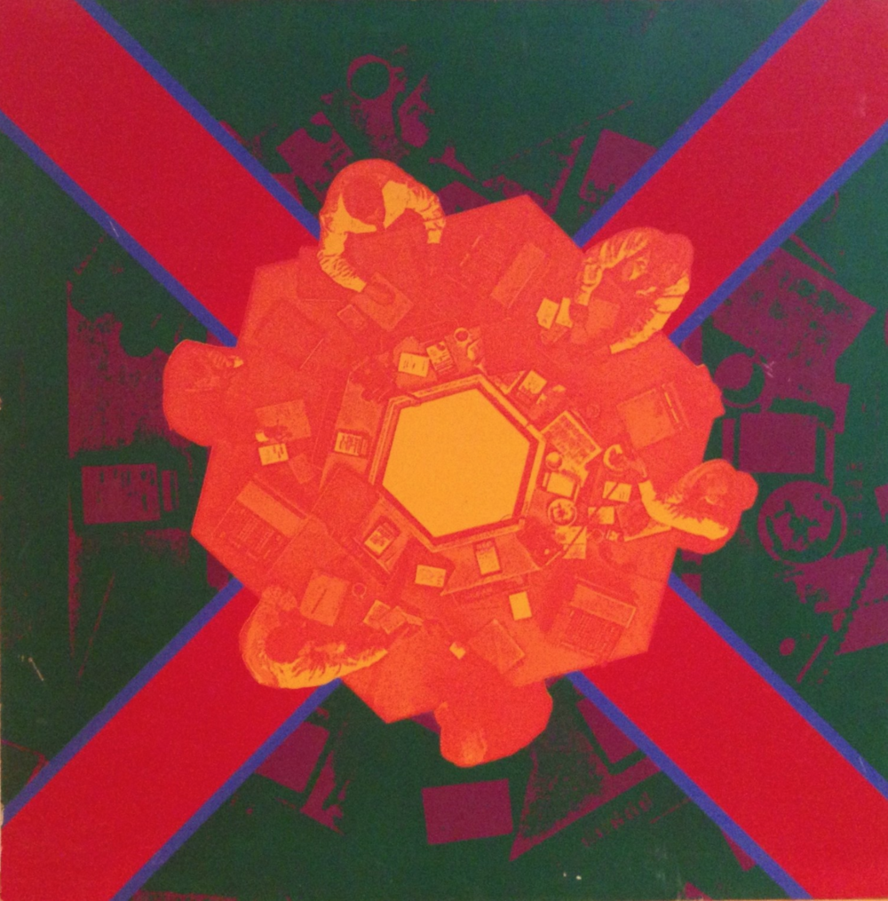 Wayne Eastcott, Red X, 1968   serigraph on illustration board,  from  The Feckless Collection