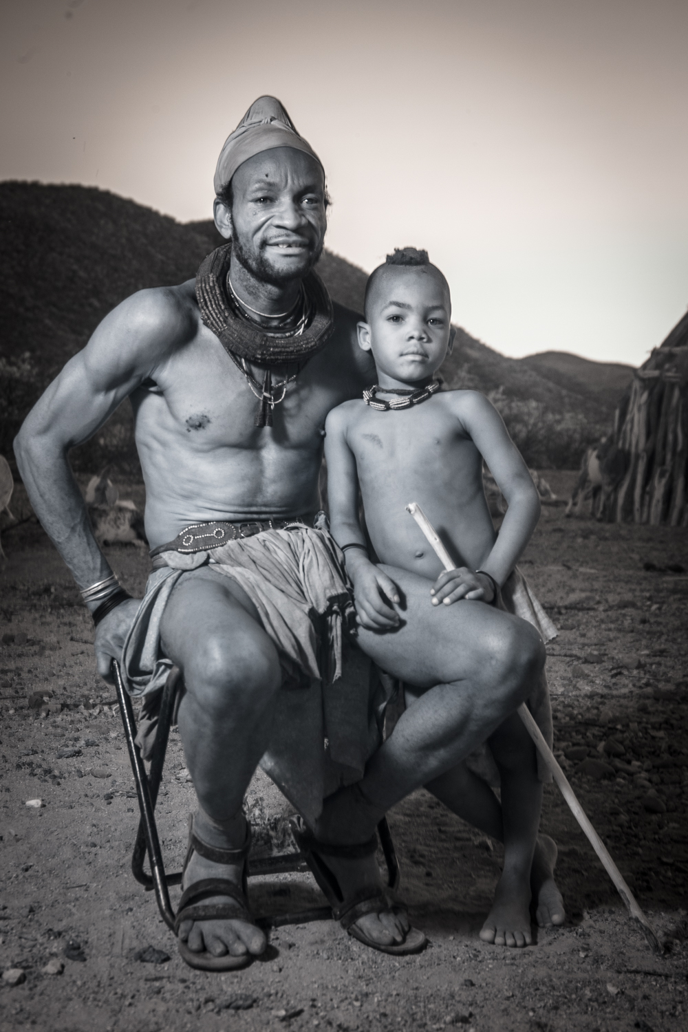 A Himba father and son.